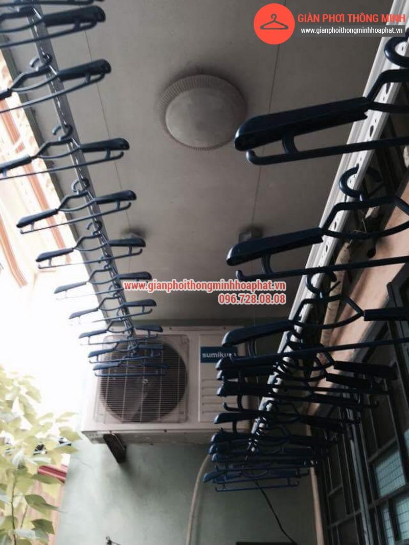 Nhà chị Bảo lắp giàn phơi thông minh số 20 ngõ 1 Nguyễn Thái Học, Hà Đông 01
