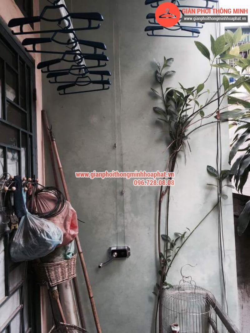 Nhà chị Bảo lắp giàn phơi thông minh số 20 ngõ 1 Nguyễn Thái Học, Hà Đông 02
