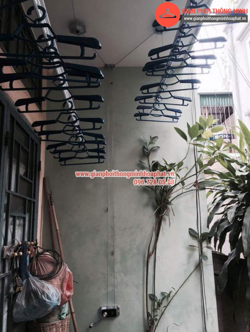 Nhà chị Bảo lắp giàn phơi thông minh số 20 ngõ 1 Nguyễn Thái Học, Hà Đông 05