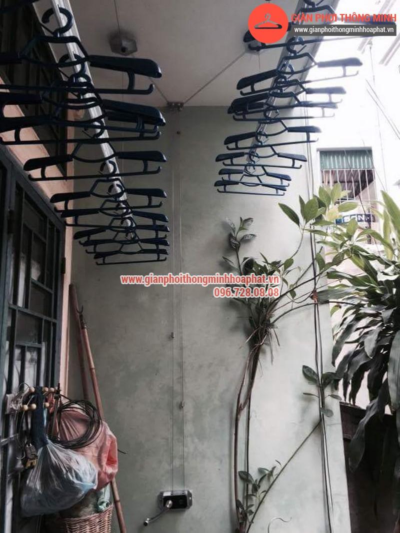 Nhà chị Bảo lắp giàn phơi thông minh số 20 ngõ 1 Nguyễn Thái Học, Hà Đông 06