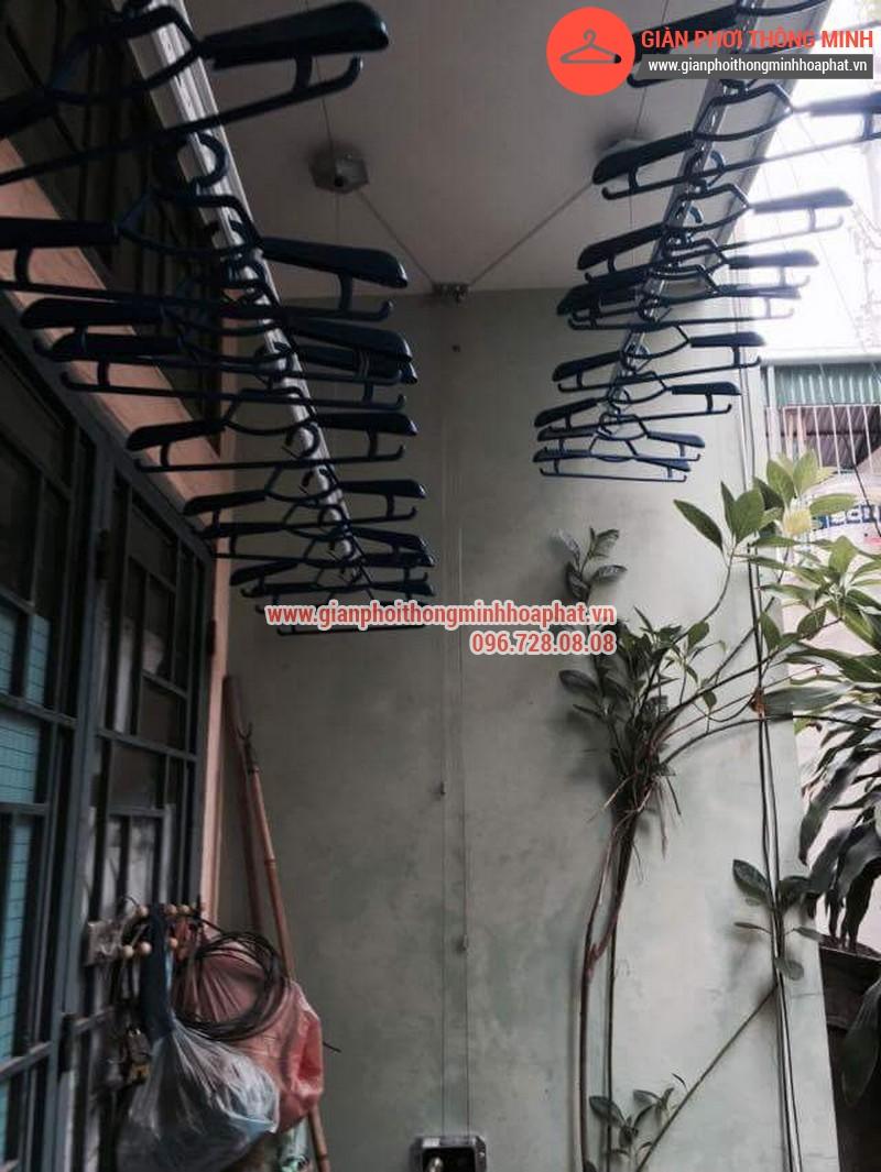 Nhà chị Bảo lắp giàn phơi thông minh số 20 ngõ 1 Nguyễn Thái Học, Hà Đông 07