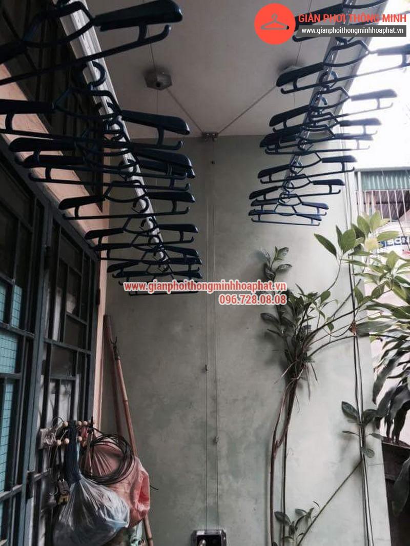 Nhà chị Bảo lắp giàn phơi thông minh số 20 ngõ 1 Nguyễn Thái Học, Hà Đông 08