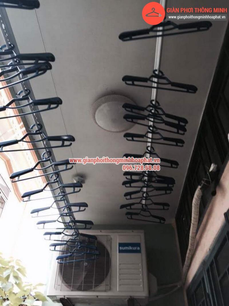 Nhà chị Bảo lắp giàn phơi thông minh số 20 ngõ 1 Nguyễn Thái Học, Hà Đông 09