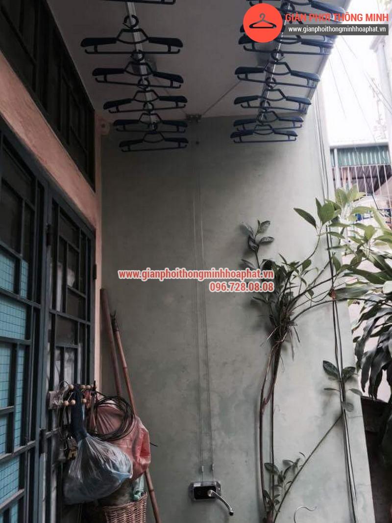 Nhà chị Bảo lắp giàn phơi thông minh số 20 ngõ 1 Nguyễn Thái Học, Hà Đông 11
