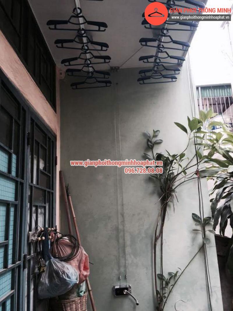 Nhà chị Bảo lắp giàn phơi thông minh số 20 ngõ 1 Nguyễn Thái Học, Hà Đông 12