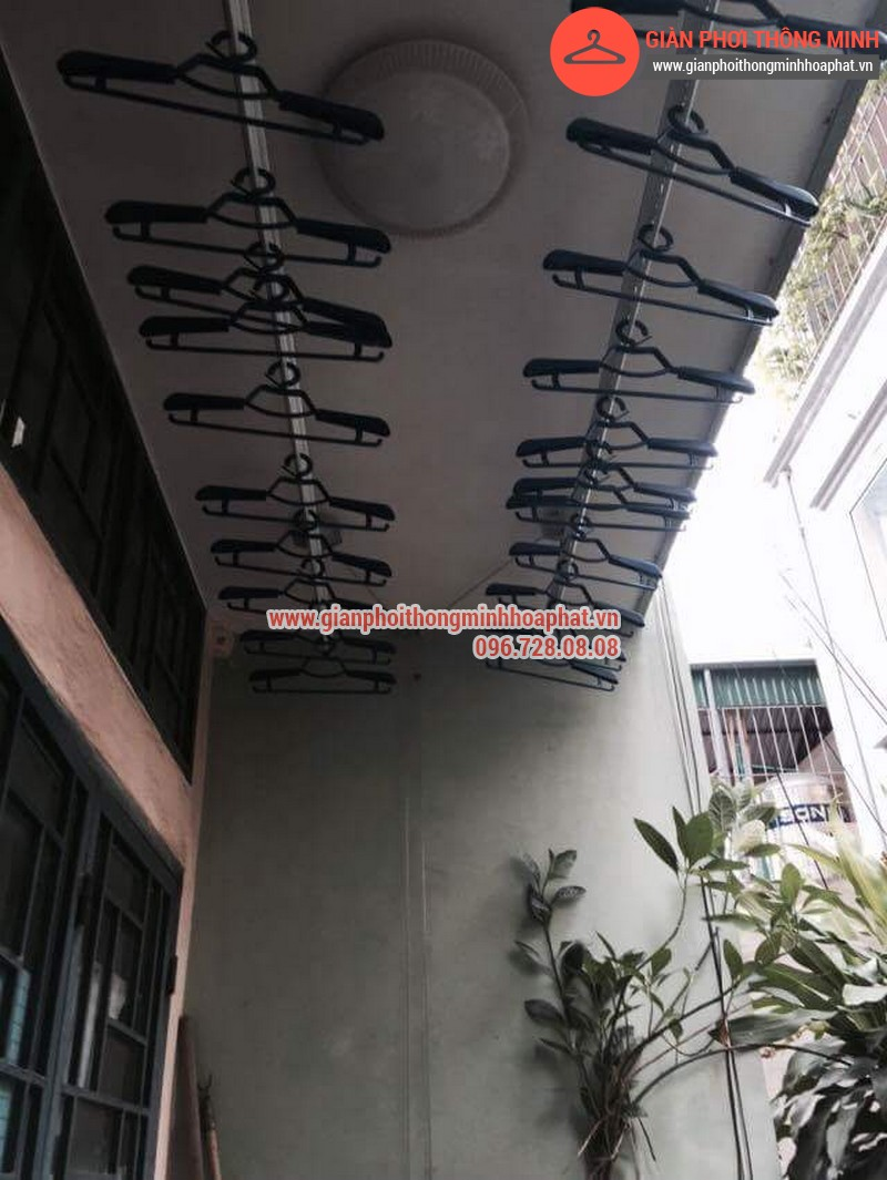 Nhà chị Bảo lắp giàn phơi thông minh số 20 ngõ 1 Nguyễn Thái Học, Hà Đông 15