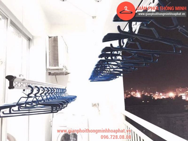 Nhà anh Bằng lắp giàn phơi thông minh phòng 1006 số 262 Nguyễn Huy Tưởng 04