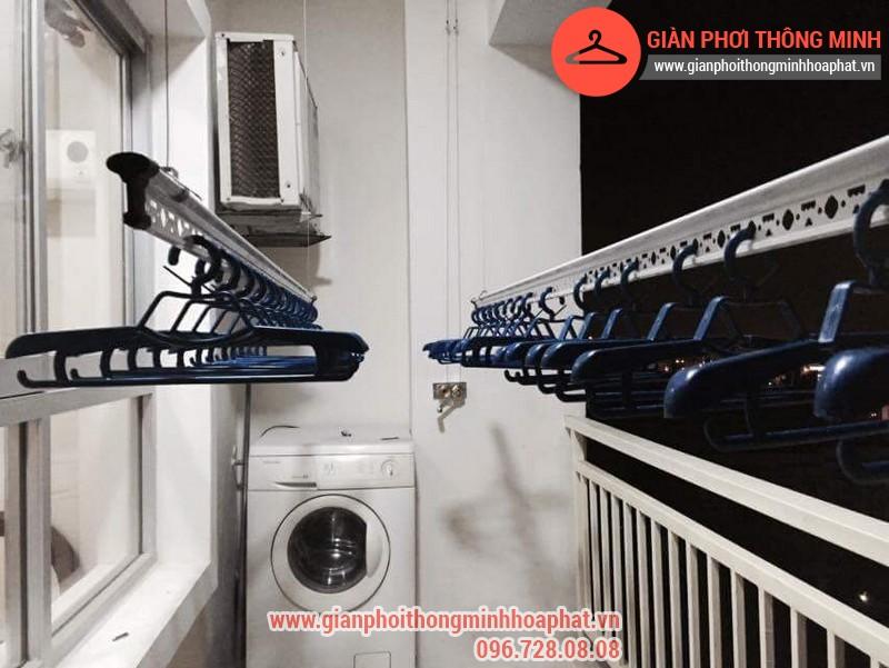 Nhà anh Bằng lắp giàn phơi thông minh phòng 1006 số 262 Nguyễn Huy Tưởng 06