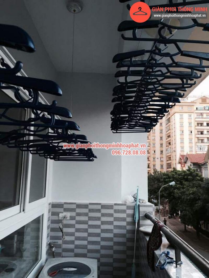 Nhà anh Thanh lắp giàn phơi thông minh phòng 207 tòa CT3B Đại Lộ Thăng Long 02