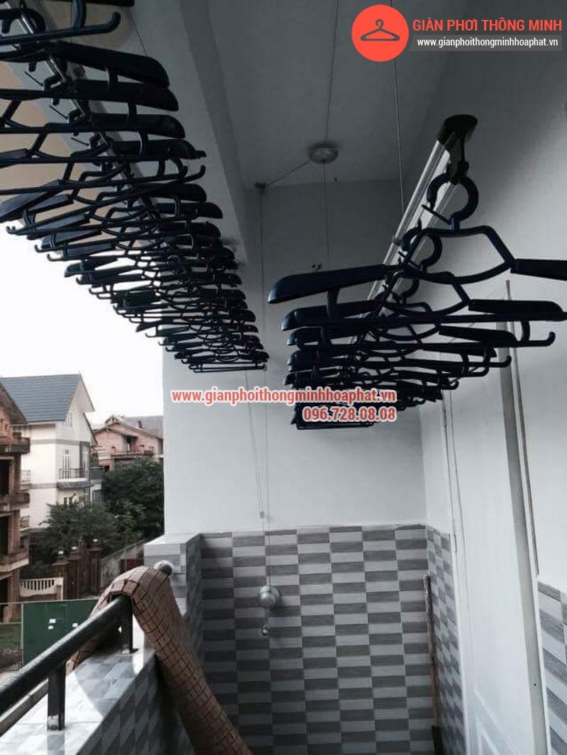Nhà anh Thanh lắp giàn phơi thông minh phòng 207 tòa CT3B Đại Lộ Thăng Long 05