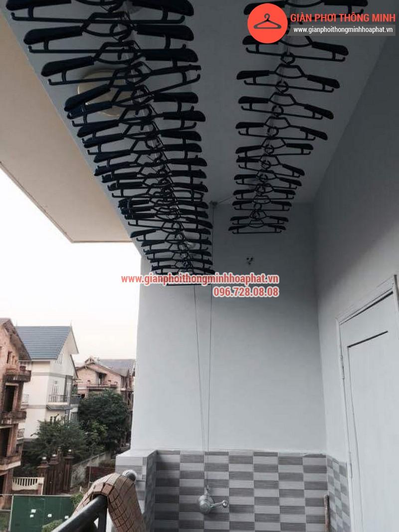 Nhà anh Thanh lắp giàn phơi thông minh phòng 207 tòa CT3B Đại Lộ Thăng Long 16