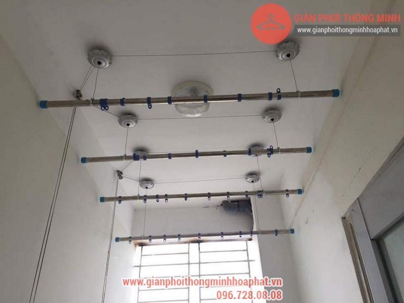 Lắp đặt giàn phơi thông minh nhà anh Thanh phòng 607 tòa CT1C Phạm Văn Đồng 02