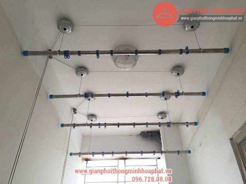 Lắp đặt giàn phơi thông minh nhà anh Thanh phòng 607 tòa CT1C Phạm Văn Đồng 03