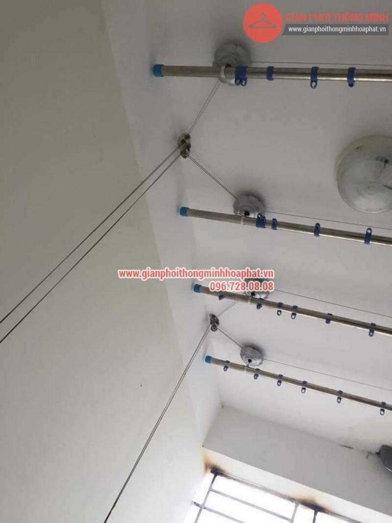 Lắp đặt giàn phơi thông minh nhà anh Thanh phòng 607 tòa CT1C Phạm Văn Đồng 04