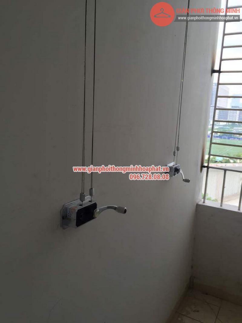 Lắp đặt giàn phơi thông minh nhà anh Thanh phòng 607 tòa CT1C Phạm Văn Đồng 05