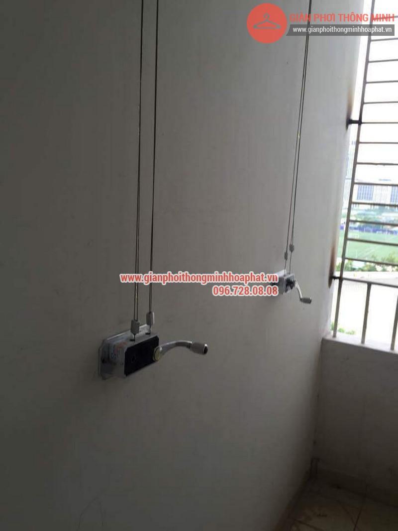 Lắp đặt giàn phơi thông minh nhà anh Thanh phòng 607 tòa CT1C Phạm Văn Đồng 06