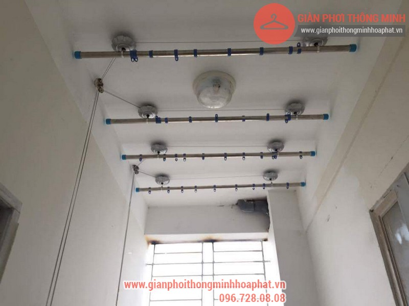 Lắp đặt giàn phơi thông minh nhà anh Thanh phòng 607 tòa CT1C Phạm Văn Đồng 07