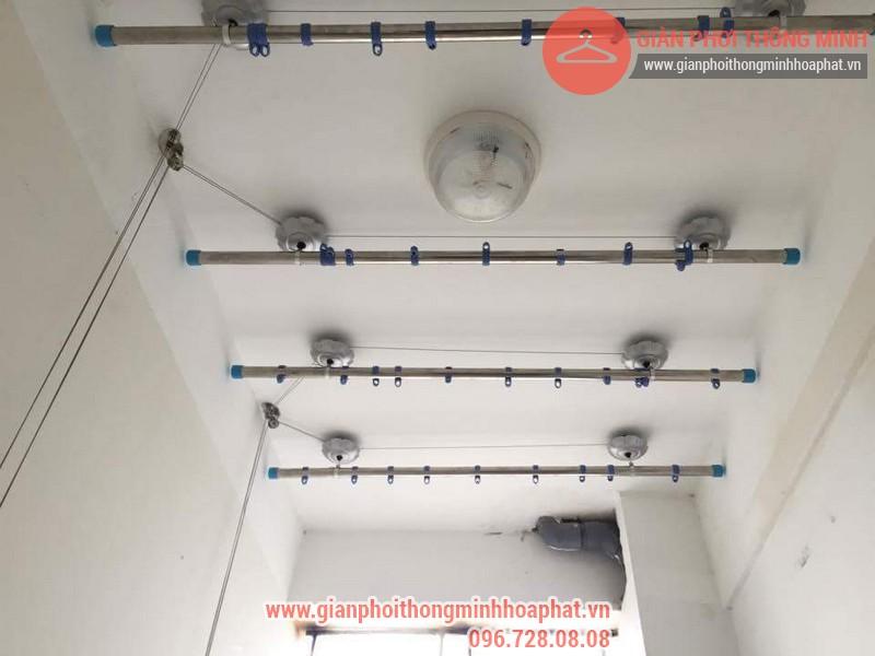 Lắp đặt giàn phơi thông minh nhà anh Thanh phòng 607 tòa CT1C Phạm Văn Đồng 08