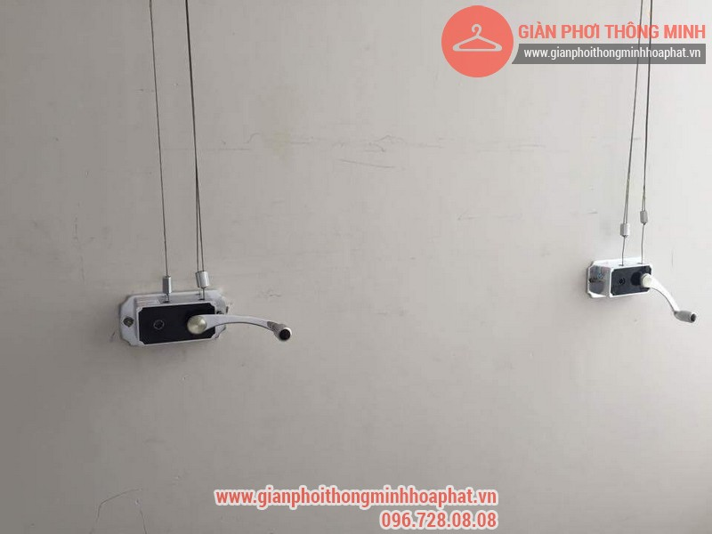 Lắp đặt giàn phơi thông minh nhà anh Thanh phòng 607 tòa CT1C Phạm Văn Đồng 09
