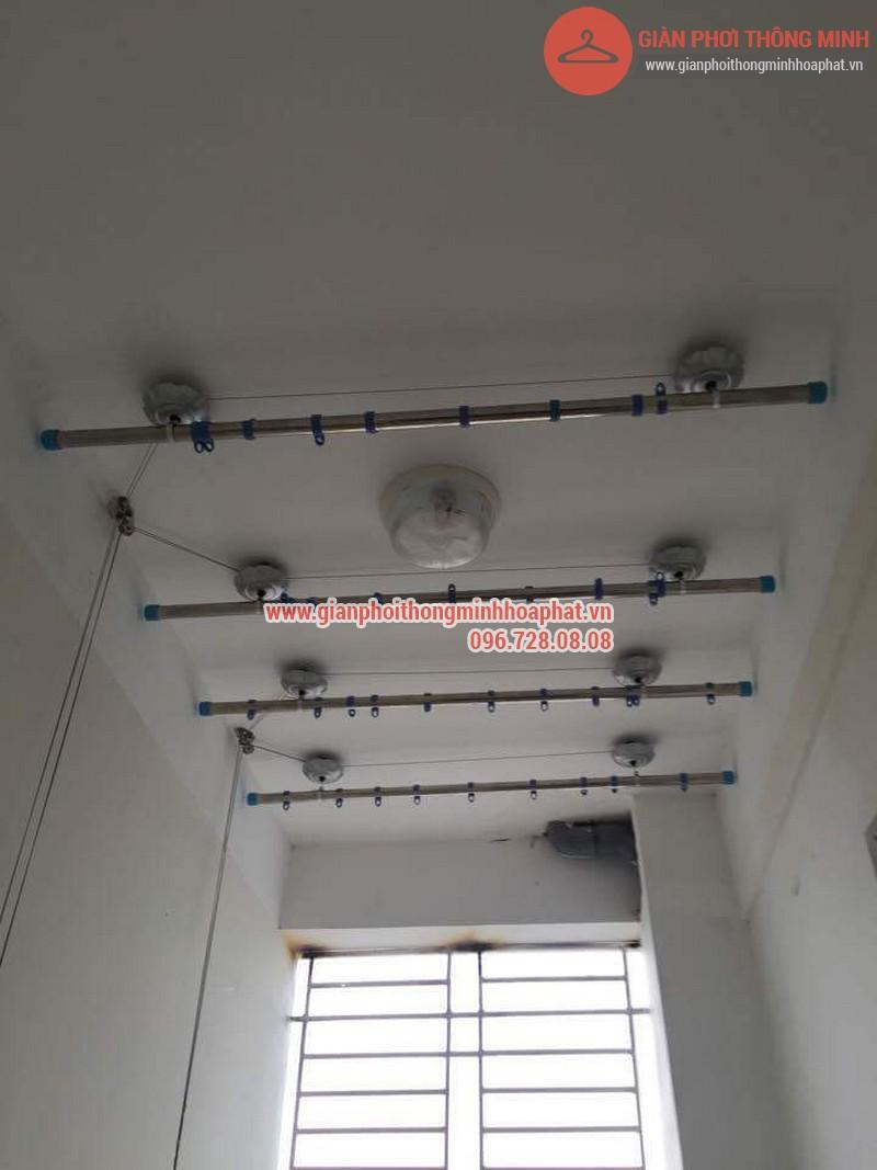 Lắp đặt giàn phơi thông minh nhà anh Thanh phòng 607 tòa CT1C Phạm Văn Đồng 10