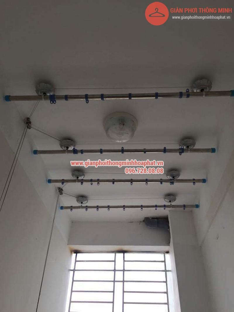 Lắp đặt giàn phơi thông minh nhà anh Thanh phòng 607 tòa CT1C Phạm Văn Đồng 01