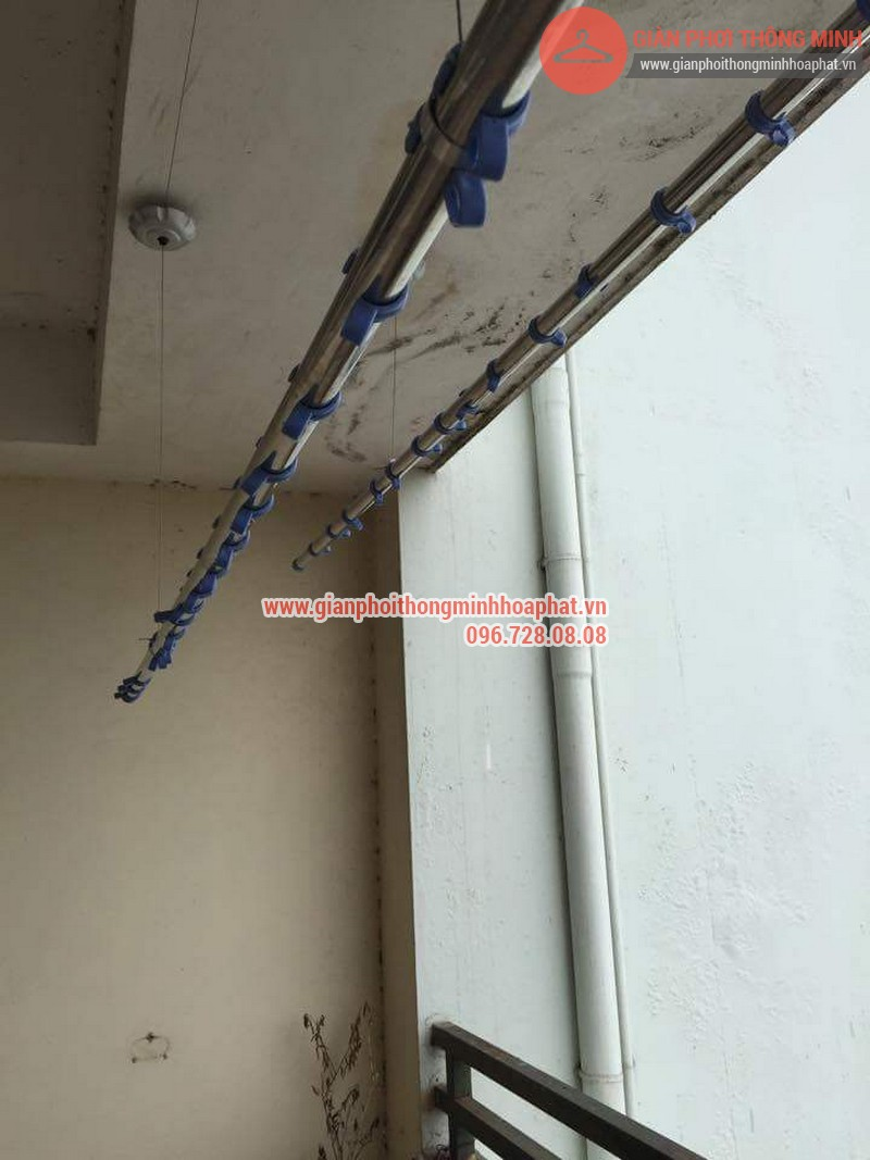 Sửa chữa giàn phơi thông minh nhà chị Ngân tại Thụy Khuê 05
