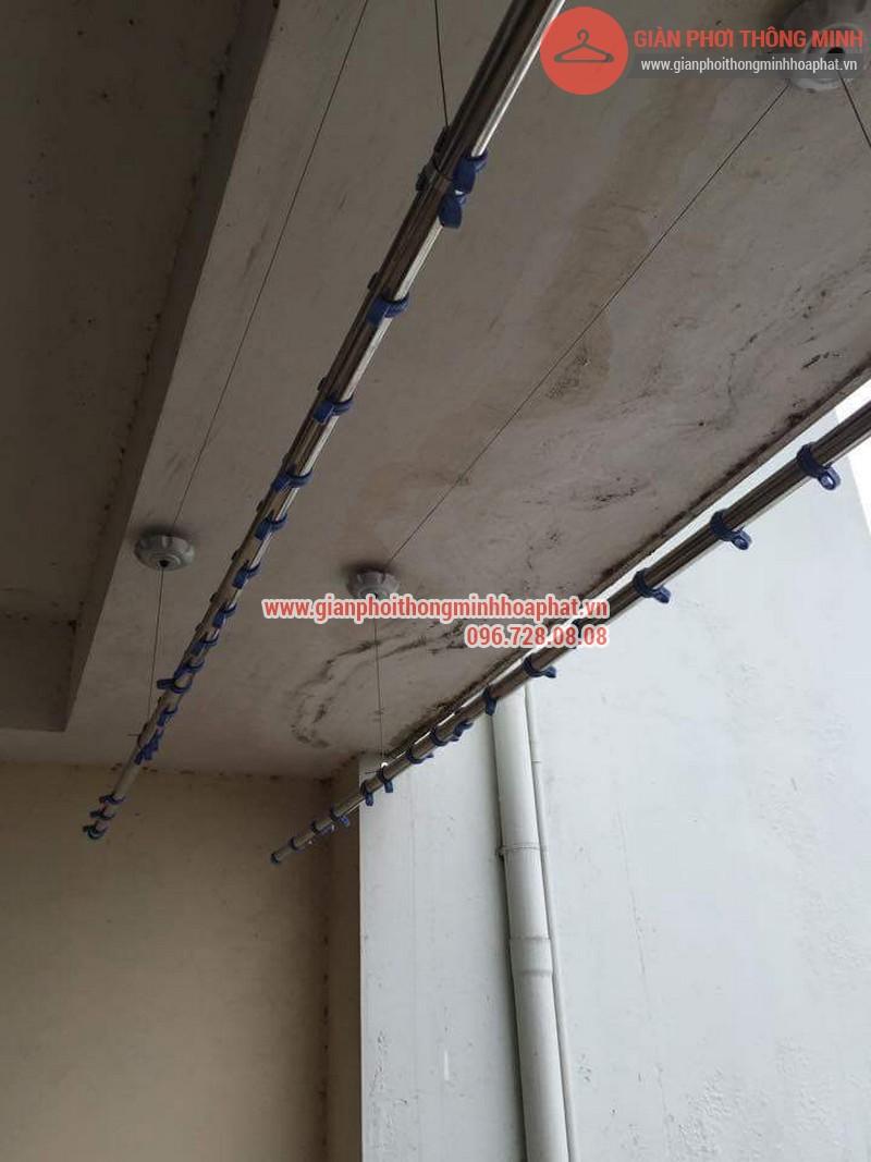 Sửa chữa giàn phơi thông minh nhà chị Ngân tại Thụy Khuê 06