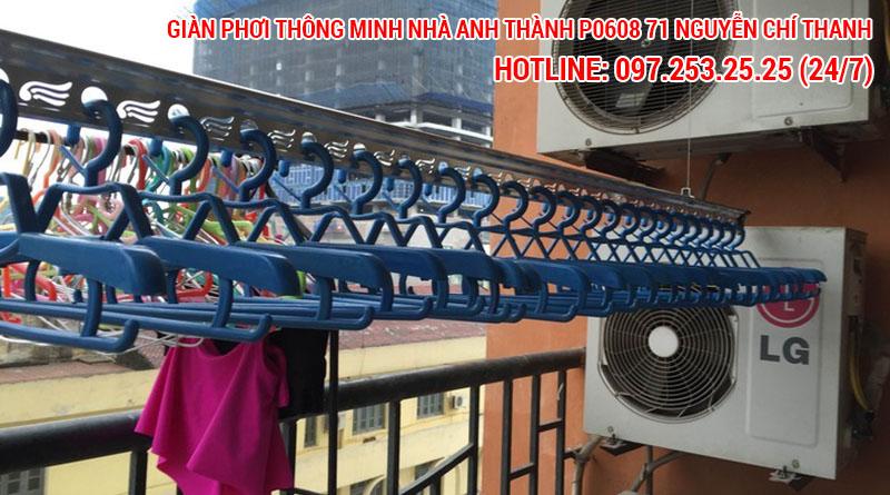Nhà chú Thành lắp giàn phơi thông minh phòng 0608 tòa nhà 71 Nguyễn Chí Thanh