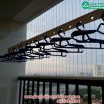 Lắp đặt giàn phơi thông minh nhà chị Hồng phòng 2302 tòa HH3B Linh Đàm