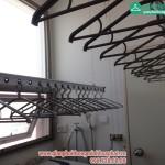 Lắp giàn phơi thông minh nhà anh Dương phòng 2405 CT4 tòa nhà Hyundai Hà Đông