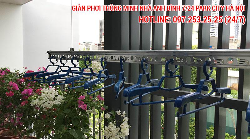 Lắp giàn phơi thông minh nhà anh Bình số 7/24 Park City Hanoi, Lê Trọng Tấn, Hà Đông