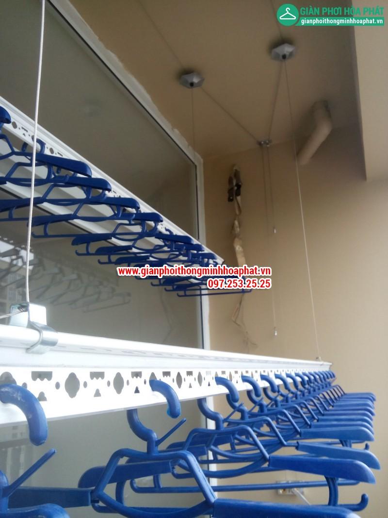 Giàn phơi thông minh nhà chị Nga P1806 Chung cư CT2 - Dream Town - Coma6 08