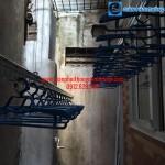 Lắp giàn phơi nhà cô Bình phòng 103 tòa D8B phố Quang Mai