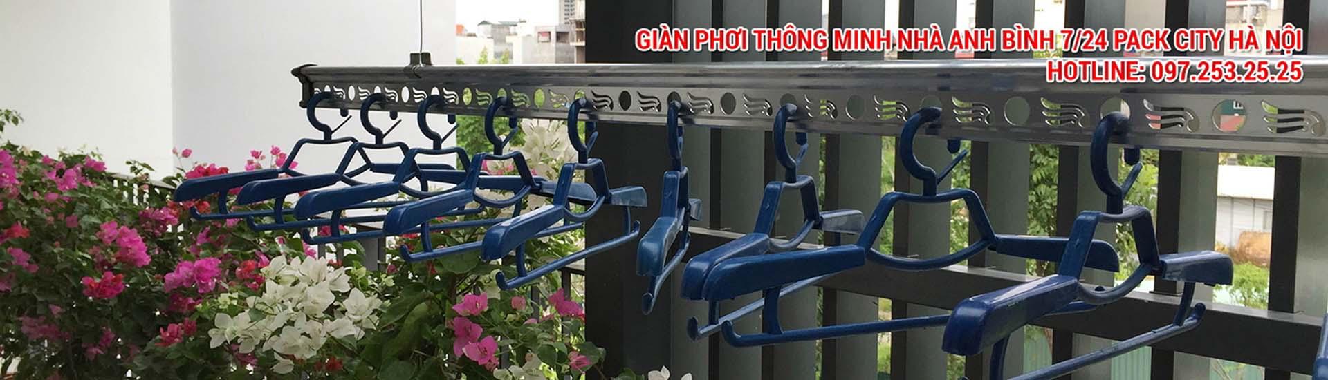 giàn phơi thông minh nhà anh Bình số 7/24 Park City Hanoi, Lê Trọng Tấn, Hà Đông