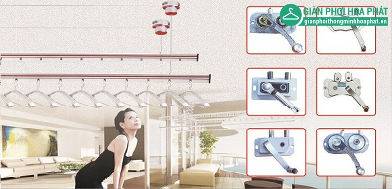 Lắp đặt được mọi không gian, kể cả trần nhà hay xà trên cao.