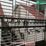 Giàn phơi thông minh lắp đặt tại nhà anh Giáp số 35 biệt thự 6 Văn Phú