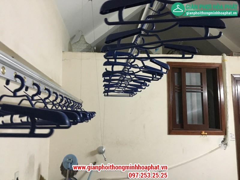 Lắp đặt giàn phơi thông minh tại nhà cô Minh khu đô thị Văn Quán