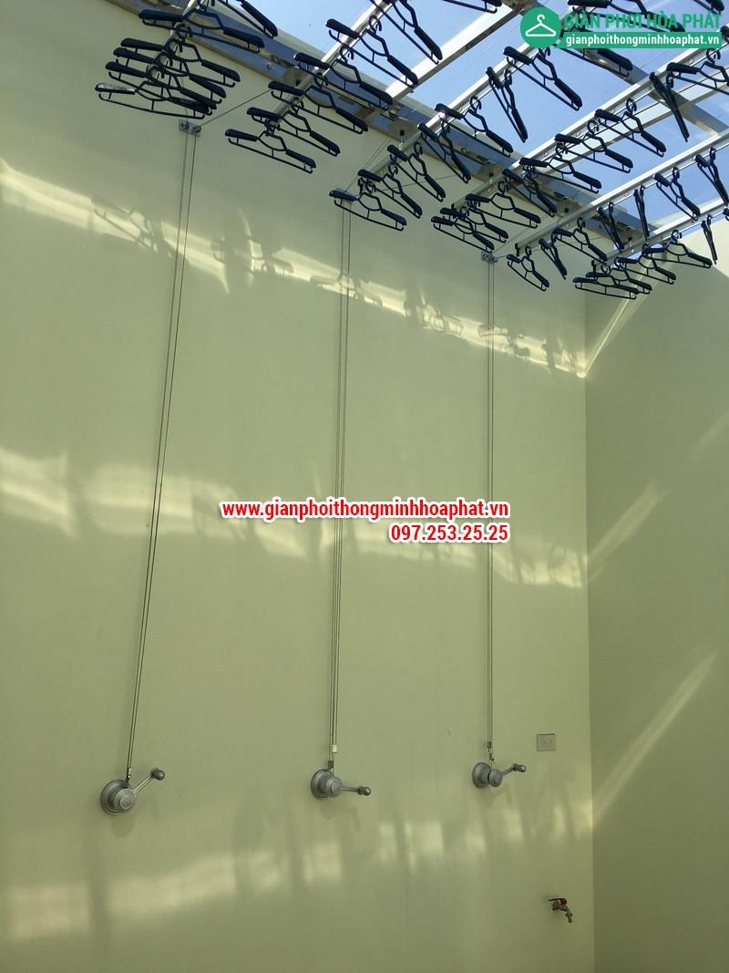 Lắp đặt 3 bộ giàn phơi thông tại biệt thự Ciputra Hà Nội