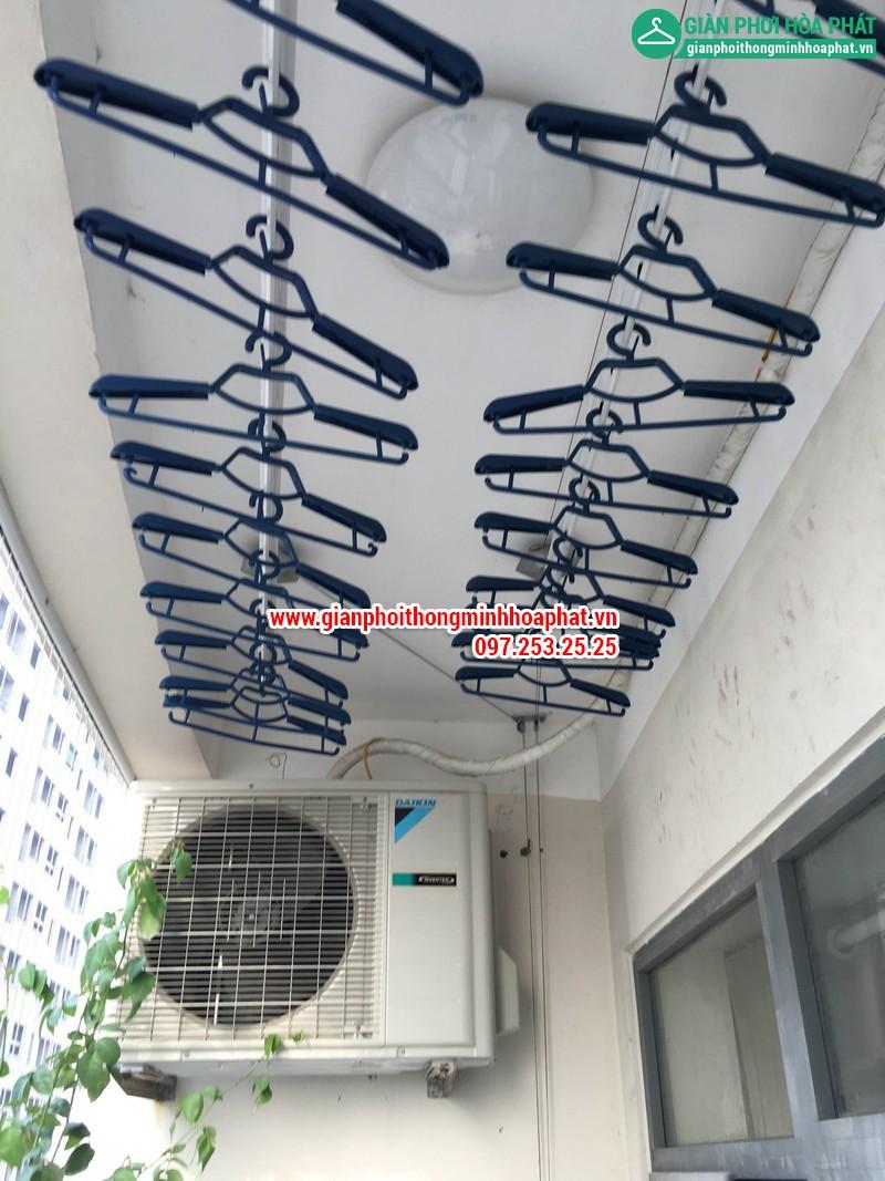 Giàn phơi thông minh nhà chị Linh P1204 - CT2B chung cư VOV Mễ Trì 02