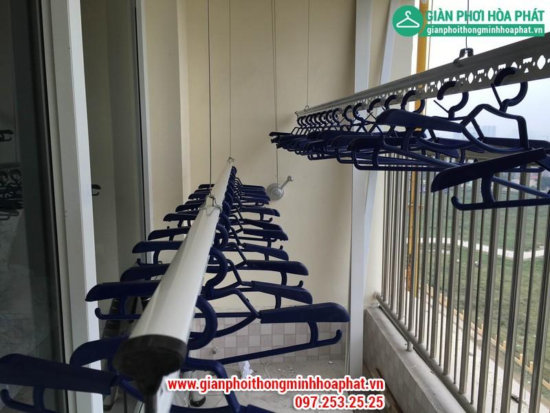 Lắp giàn phơi thông minh nhà A. Long P1402 tòa CT8 Dương Nội Hà Đông 02