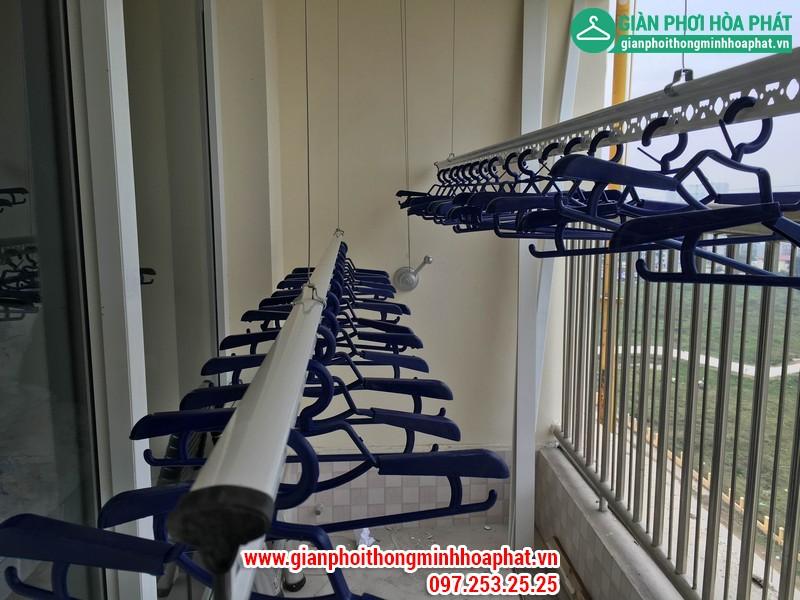 Lắp giàn phơi thông minh nhà A. Long P1402 tòa CT8 Dương Nội Hà Đông 03