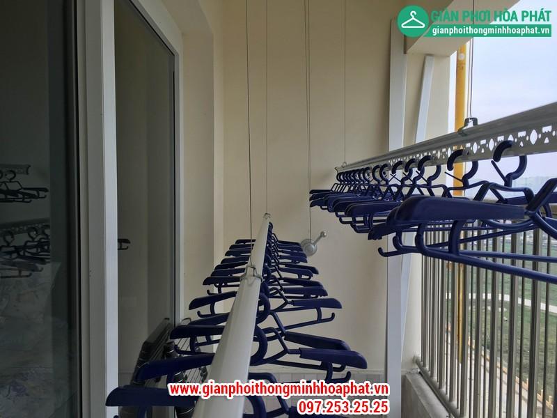 Lắp giàn phơi thông minh nhà A. Long P1402 tòa CT8 Dương Nội Hà Đông 04