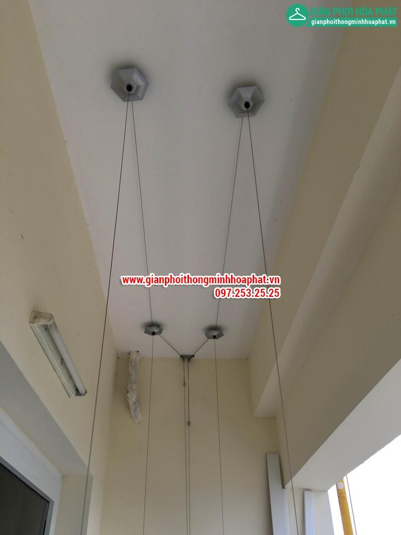 Lắp giàn phơi thông minh nhà A. Long P1402 tòa CT8 Dương Nội Hà Đông 05
