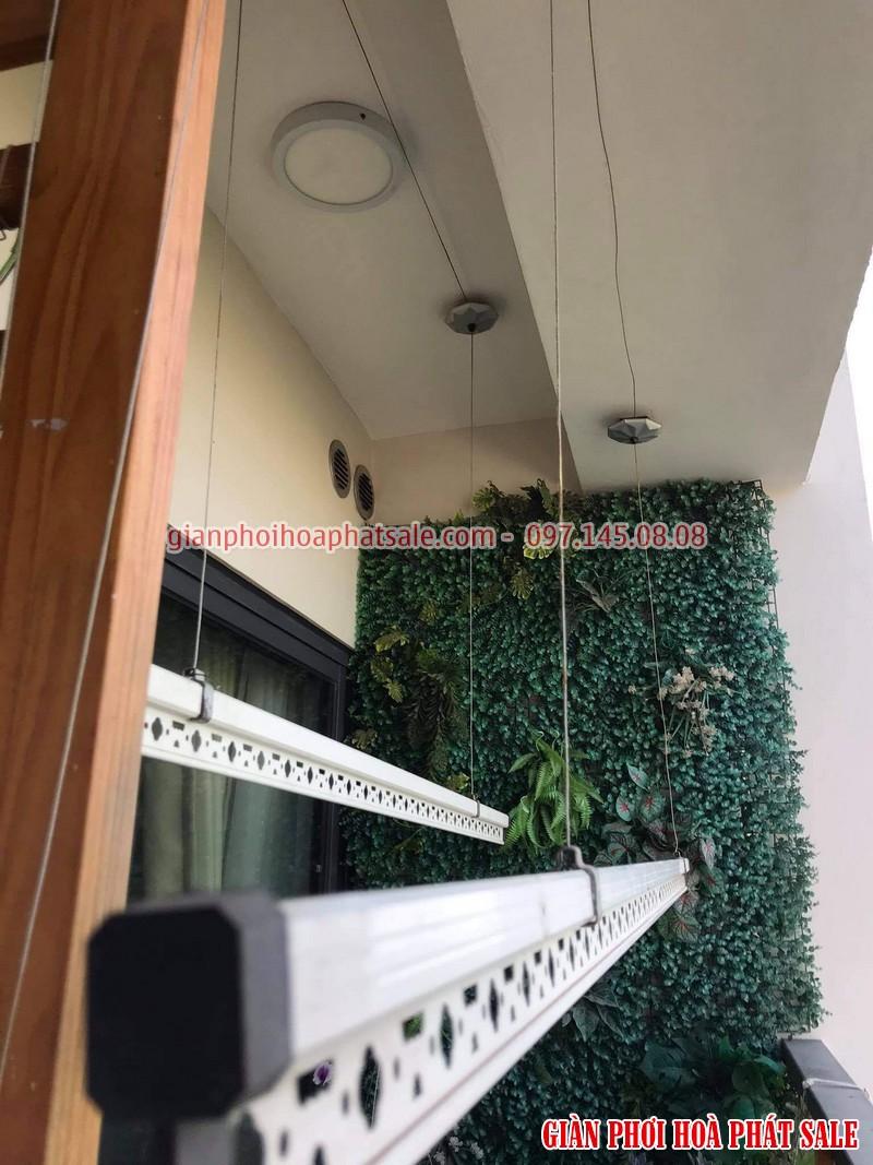 Lắp giàn phơi Hòa Phát tại Ecopark nhà anh Bình, phòng 206, tòa C3 - 04