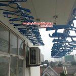 Lắp đặt giàn phơi thông minh nhà anh Dũng, P403, Chung cư 262 Nguyễn Huy Tưởng