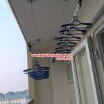"""""""Vẻ đẹp"""" của giàn phơi thông minh nhà chị Yến, số 5, ngách 28/158 Nguyễn Văn Cừ, Gia Lâm, Hà Nội"""