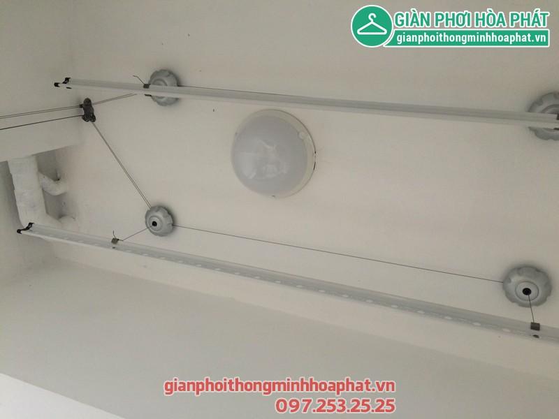 Lắp giàn phơi thông minh nhà chị Khánh P1208 toà nhà Lucky 30 Phạm Văn Đồng 01