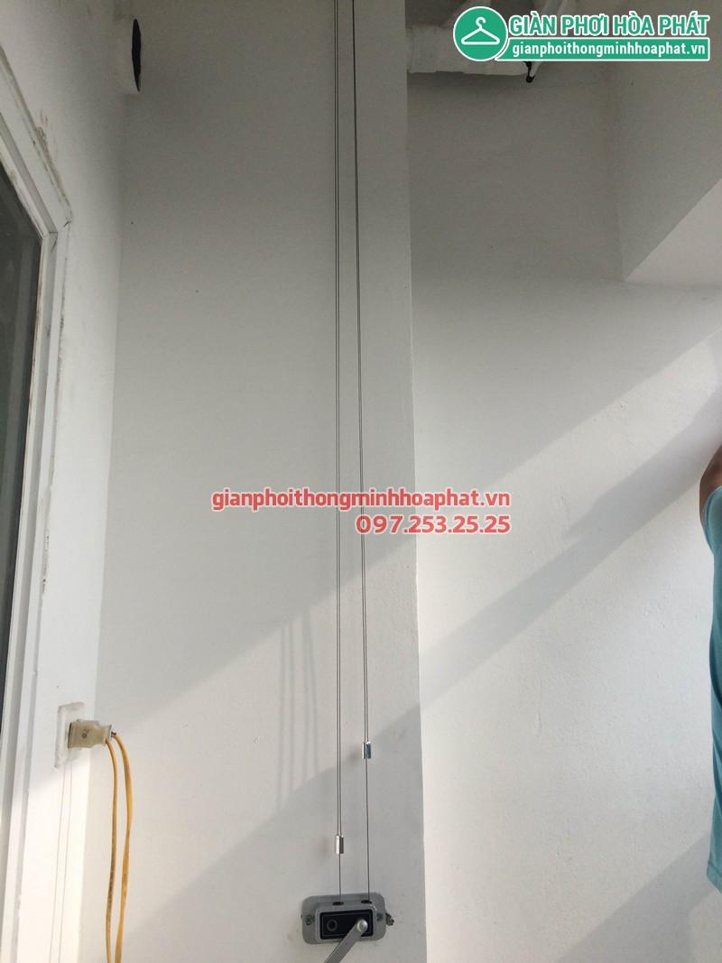 Lắp giàn phơi thông minh nhà chị Khánh P1208 toà nhà Lucky 30 Phạm Văn Đồng 03