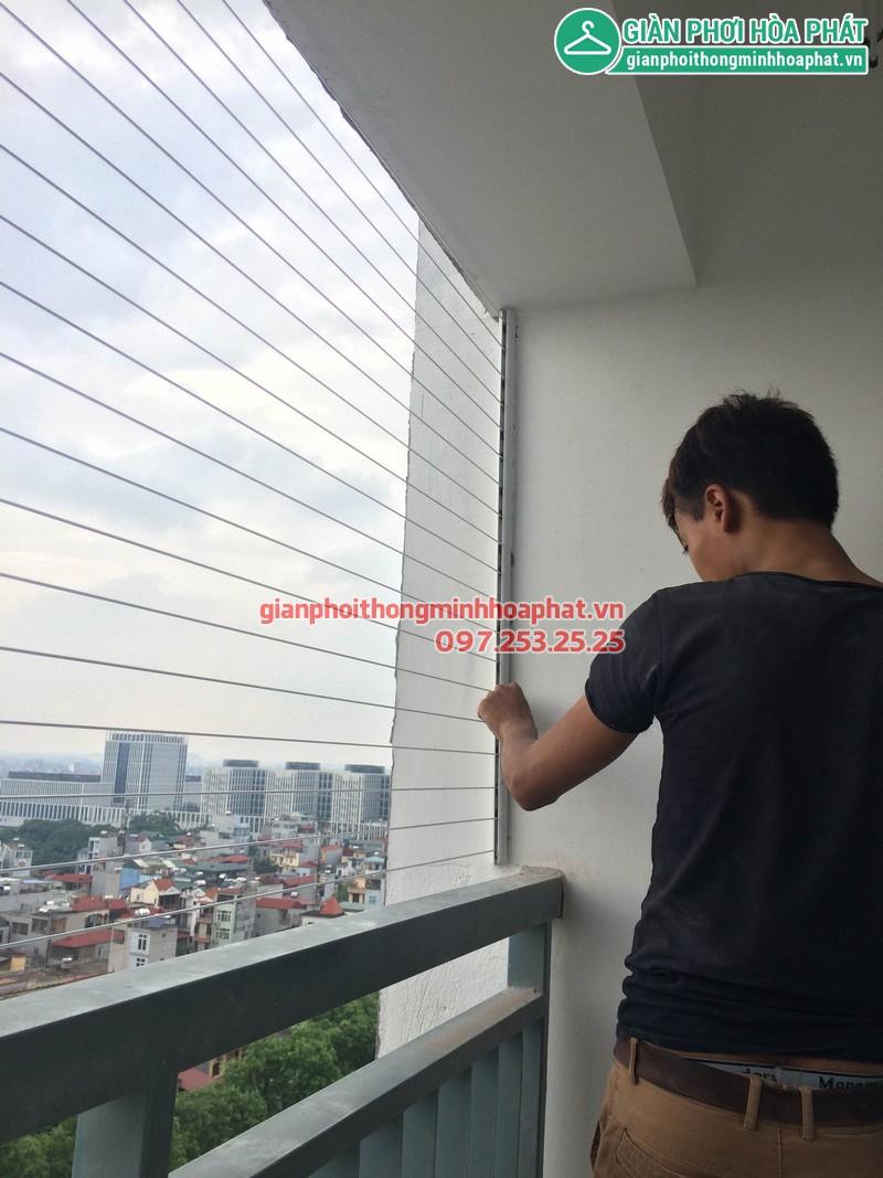 Lắp giàn phơi thông minh nhà chị Khánh P1208 toà nhà Lucky 30 Phạm Văn Đồng 05