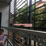 Giàn phơi thông minh nhà chị Chi, P105, chung cư E681, ngõ 97 Văn Cao, Ba Đình, Hà Nội